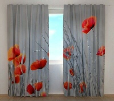 3D Photo Curtains Printed Image Roses and Pearls Wellmira 3D Floral