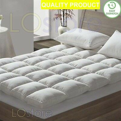 New Luxury Hotel Extra Comfort Soft Goose Feather & Down Mattress Topper Cover
