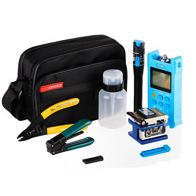 Fiber Optic FTTH Tool Kit FC-6S Cutter Fiber Cleaver Optical Power Meter set A