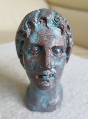 Alexander the Great Ancient Greek Macedon King Cold Casting Antique Copper Bust