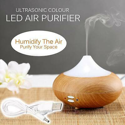 Ultrasonic Essential Oil Aroma Diffuser Mist Humidifier 7 Colour LED Light Timer