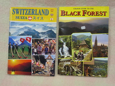 Guide Books (2) Switzerland & The Black Forest 96 & 64 Pages mid 1990's