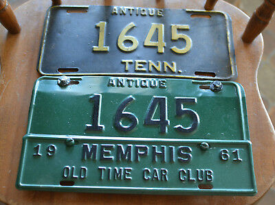 Vintage pair of Antique Tennessee License Plates Tag Tenn Tn Rare Antique.