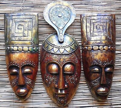 Coloured Wooden Mask 50 cm / 40 cm Wall New Decoration Different Design Colours