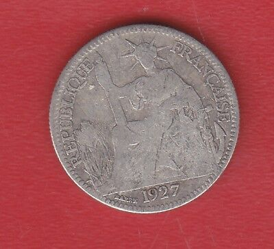 Indochine Francaise 10 Cents 1927 Silver