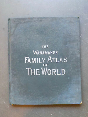 1895 The Wanamaker Family Atlas of the World, 147 Maps & Plans, Illustrated