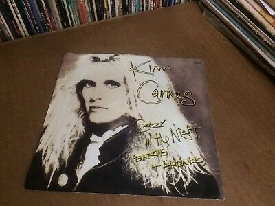 """Kim Carnes Crazy In The Night  Barking  At Planes Pic Sleeve And Vinyl 45 7"""" Z"""
