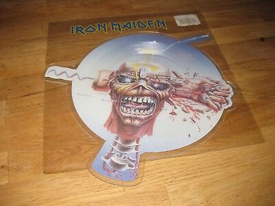 """IRON MAIDEN Can I Play With Madness 7"""" Shape Picture 1998 EMI 