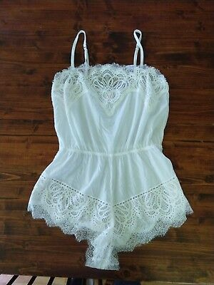 Victoria's Secret One Piece Lace Sleeper.