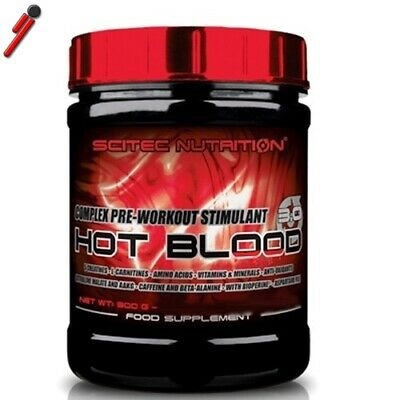 Scitec Nutrition Hot Blood 3.0, 300 g Pre Workout Creatina Arginina Carnitina