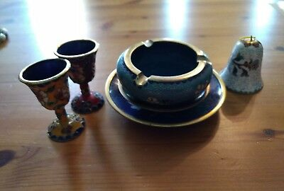 Cloisonne Mixed Matched Set Lot of 6