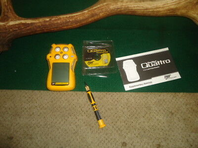 gas alert quattro bw technologies 1,2,3,and 4-gas detecter