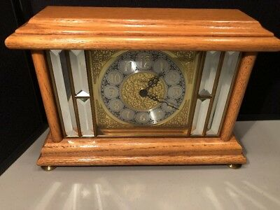 Ansonia Gold Medallion #1220 Clock For Repair Oak Finish