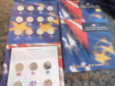 State Quarters-Euro Collection(12 Countries Coins Europe) Plus Silver & 2Medals