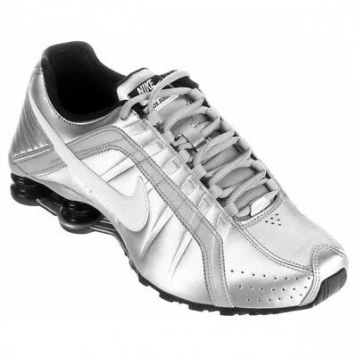 1b6be0293b12 NIKE SHOX JUNIOR Women s Size 6.5 White Silver Pink Running Sneakers ...
