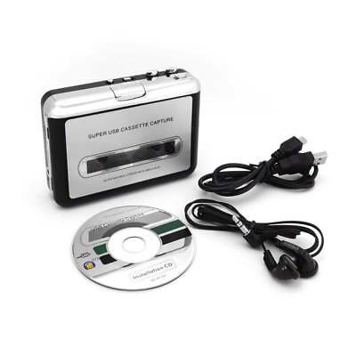 Portable USB Cassette Tape to Mp3 PC Converter Capture Stereo Audio Player