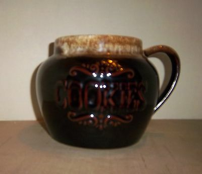 Brown Drip Glaze Bean Pot Cookie Jar Bottom - No Lid - Maker Unknown
