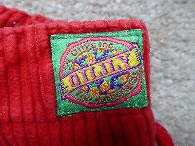 OILILY corduroy trousers in post box red 128 cm