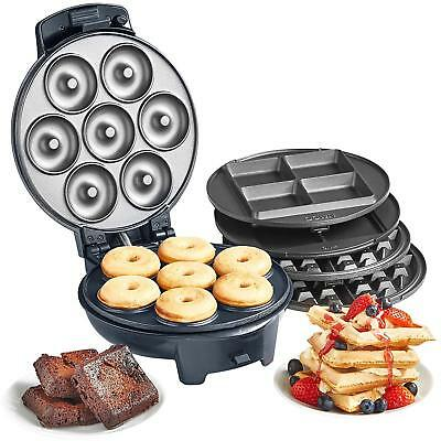 Doughnut Maker Waffle Making Machine Brownie Cooking Kitchen Non Stick Plates