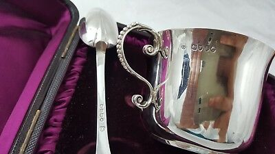 Antique Silver Loving Cup and Spoon 1884 Francis Higgins. Mint. Boxed