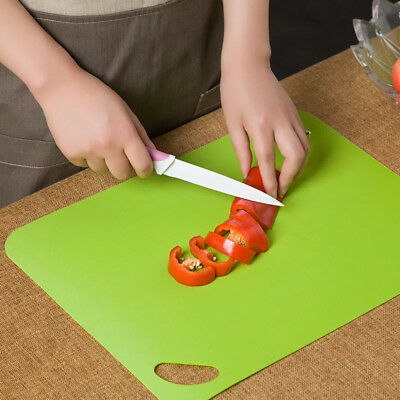 4 Pcs Set Plastic Folding Non-slip Cutting Chopping Slicing Board Mat Kitchen