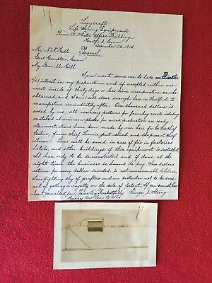 VINTAGE HANDWRITTEN LETTER DESCRIBING LIFE SAVING EQUIPMENT, Dec. 26, 1913