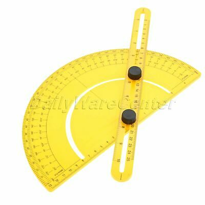 Yellow Goniometer Angle Protractor Gauge Finder Measure Folding Arm Ruler Tool