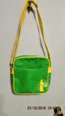 The Coke Side of Life Coca Cola Vinyl Bag Green and Yellow Adjustable Strap