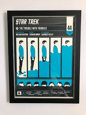 Olly Moss Trouble With Tribbles - Spock, Framed (Mondo / Star Trek Print)