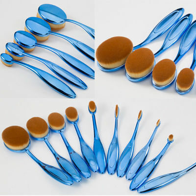 10Pcs PROFESSIONAL Toothbrush Oval Makeup Brushes Set Powder Contour Foundation