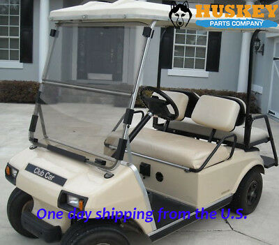 Club Car Windshield Fits Older DS Golf Cart from 1982-2000.5, Tinted Foldable