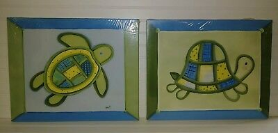 Hand Painted Canvas Set of 2