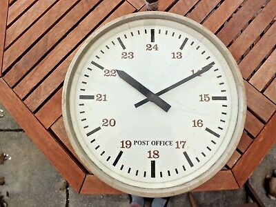 """Gents Vintage Post Office / Gpo 12"""" Double Sided Electric Industrial Wall Clocks"""