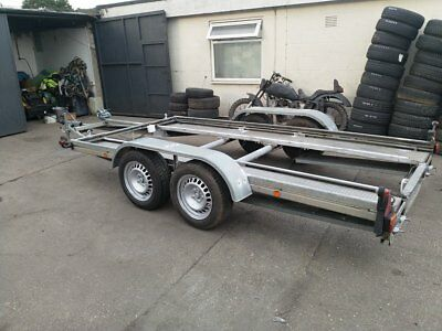 PEITZ flat bed , car transporter trailer recovery 13ft x 7ft 4.0m x 2,1m 2500 kg