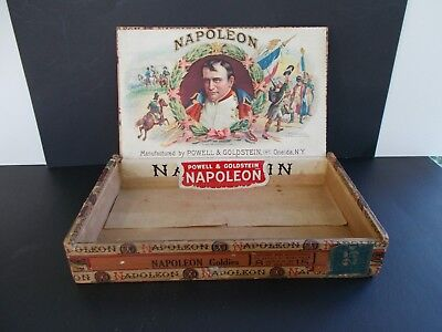 Antique Cigar Box Napoleon Powell & Goldstein Oneida Ny Very Good To Excel Cond.