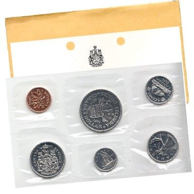 1971 Canadian 6-Coin Brilliant Uncirculated (Proof-like) Collector Set.