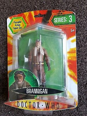 """Doctor Who """"brannigan"""" Series 3 Carded Figure 5+ Action Figure Bbc Dr New/sealed"""
