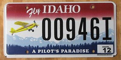 IDAHO - PILOTS PARADISE special license plate  AIRPLANE Graphic  00946I