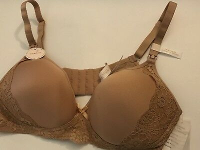 Rosie Pope Maternity Nursing Bra 36C New NWT Nude Lace