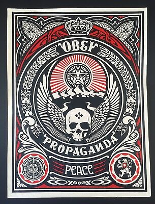 OBEY GIANT Shepard Fairey EAGLE MOUNTAIN PEACE 2006 ART Screen Print Poster