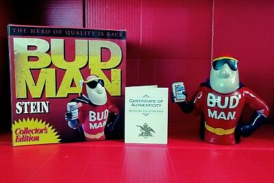 1993 Bud Man Collectors Edition Stein with all original packaging including COA