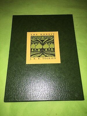 The Hobbit Or There And Back Again JRR Tolkien Green Slipcover 1966
