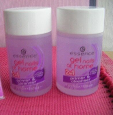 2 x ESSENCE GEL NAILS at home -  Primer & cleanser  -  als SET - NEU