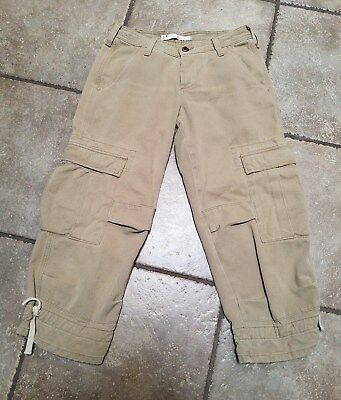 GUC Joie Midnight Rider Khaki Capri Cargo Cropped Pants Size 25 MSRP $130