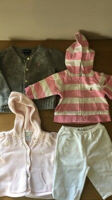 Genuine Ralph Lauren Baby Girl Cardigan Sweater Tracksuit 3-24 months