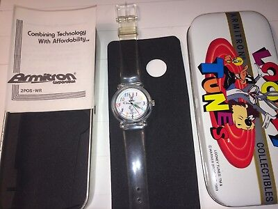 vintage, Rare Collectable Bugs Bunny Watch,1993,Warner Bros.new battery&watr prf