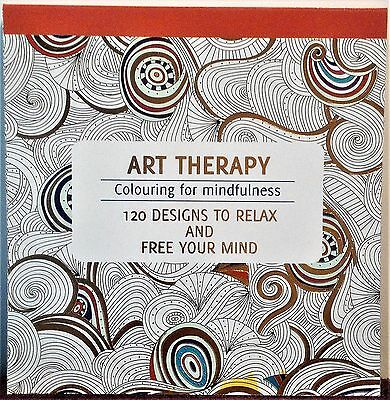 Art Therapy Adult Colouring Book For Mindfulness Stress Relief Relax Fun Gift