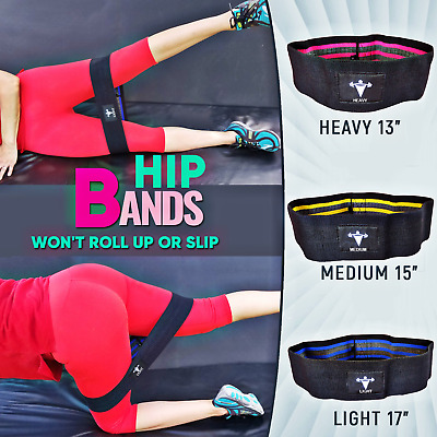 Hip Wide Resistance Bands Loop Set Circle Exercise Workout Fitness Yoga Booty