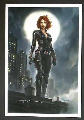 "Andy Park Black Widow Marvel Studios Fine Art Print - Signed 13""x19"""