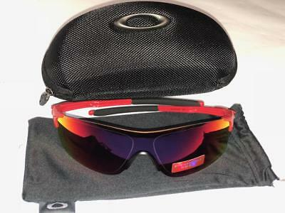 821aa735e44 Oakley Men s Evzero Pitch Non-Polarized Iridium Rectangular Sunglasses  Redline